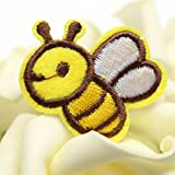 10Pcs Embroidered Patches Little Bee Cartoon Animal Diy Handmade Decor Applique Fabric Stickers Sew-On Iron-On For Bags Clothes^.