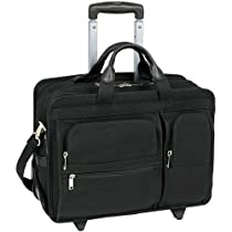 McKleinUSA CLINTON 58445 Black 17 Detachable-Wheeled Laptop Case