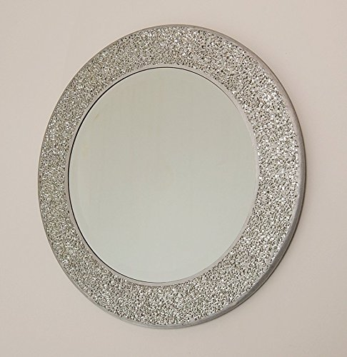 home-treats-round-crackle-wall-mirror-handmade-glass-mosaic-silver-frame-40-x40cm-new-