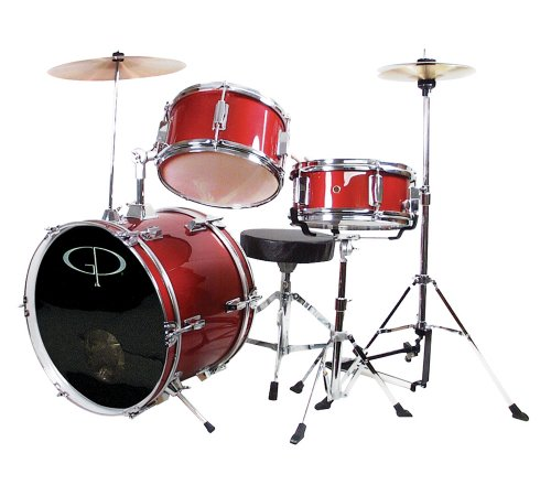 gp-percussion-gp50rd-complete-junior-drum-set-red-3-piece-set