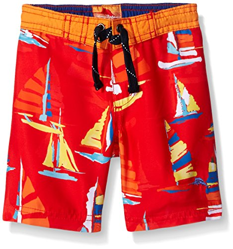 Tommy Bahama Boys' Infant Sail Boat Trunk, Red, 12 Months