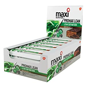 MaxiNutrition formerly Maximuscle Promax Lean 60 g Chocolate Lean Definition Bars - Box of 12