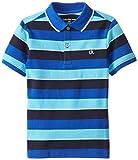 Calvin Klein Little Boys' Impact Striped Pique-Cotton Polo Shirt