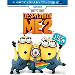 Despicable Me 2 (Blu-ray 3D + Blu-ray + DVD + Digital HD with UltraViolet)