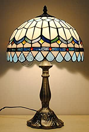 12 inch sky blue tiffany table lamps bedside lamp bedroom for 12 inch bedside table