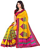 Samskruti Sarees Raw Silk Saree With Blouse Piece (Pims-2 -Yellow)