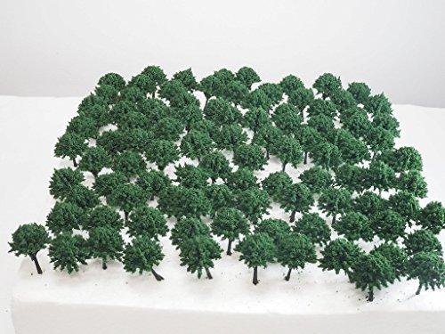 【Good in three directions】 もふもふ 大 森林 深緑 樹 木 ジオラマ用 Z N ゲージ4㎝ 100 本セット 深緑