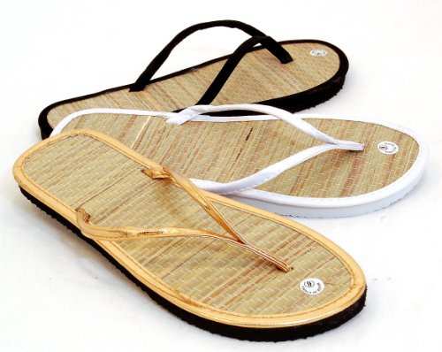 Bamboo Sandals, Classic Flats, Beach Flip Flops by L.A. Beauty