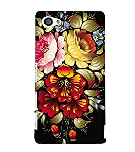 printtech Flower Back Case Cover for Sony Xperia Z5 Compact::Sony Xperia Z5 Mini