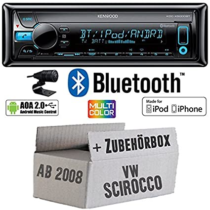 VW Scirocco 3 - Kenwood - X500 0bt - Bluetooth Kit de montage autoradio CD/MP3/USB varioc OCTOCOLOR -