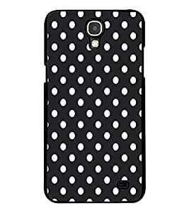 Fuson Premium Black n White Circles Metal Printed with Hard Plastic Back Case Cover for Samsung Galaxy Mega 2 G7508