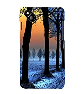 printtech Ice Trees Path Back Case Cover for MicromaxBolt D303