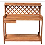 EWEI'S Homewares® Outdoor Garden Potting Bench Station Potters Bench Garden Potting Tools Area