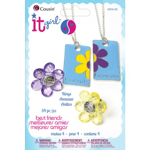 Cousin It Girl 54-Piece Jewelry Kits, Flowers - 1