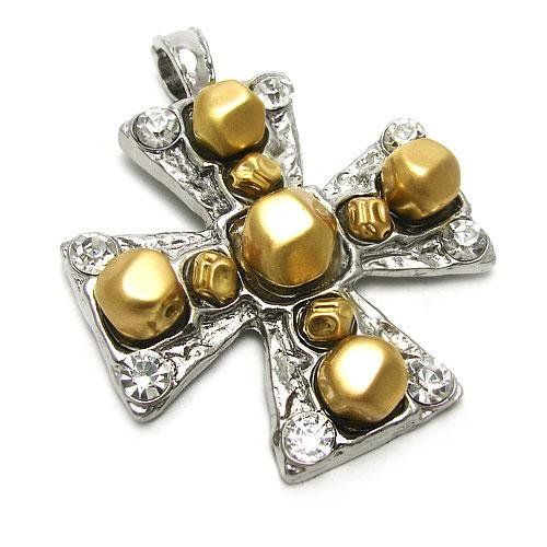 35 Cross Gold Plated Pendant