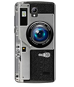 Case Cover Camera Printed Grey Soft Back Cover For LYF WATER 10