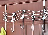 Fer Vintage piano crochet notes Tenture murale derrière la force de cintre de porte sans cintre , white