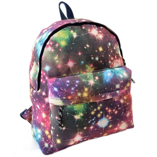 Beier® Xk2 Pink Special Galaxy Flag Backpack Men And Women Fashion Student Schoolbag