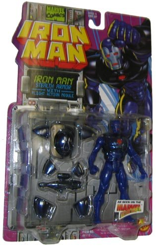 Marvel Comics 1995 Iron Man 5 Inch Action Figure - Iron Man Stealth Armor with Flight Action Module - 1