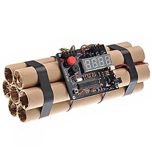 Unique Bomb Shape Defusable Bomb Alarm Clock Bomb-like Terrible Alarm Clock