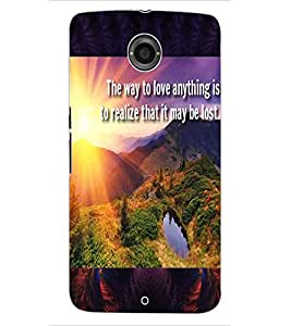 ColourCraft Beautiful Image with Quote Design Back Case Cover for MOTOROLA GOOGLE NEXUS 6