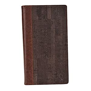 Jo Jo Cover Bark Series Leather Pouch Flip Case For Alcatel One Touch Flash Plus Dark Brown