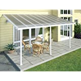 Hochwertige Aluminium Terrassenüberdachung, Terrassendach 300x546 cm (TxB) - weiß