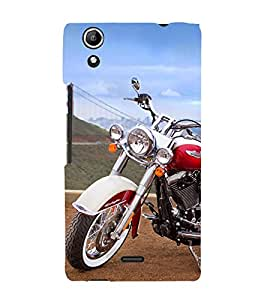 Amazing Bike Cute Fashion 3D Hard Polycarbonate Designer Back Case Cover for Micromax Canvas Selfie 2 Q340
