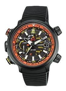 Citizen Men's BN5035-02F Altichron Eco-Drive Titanium Black Rubber Strap Watch