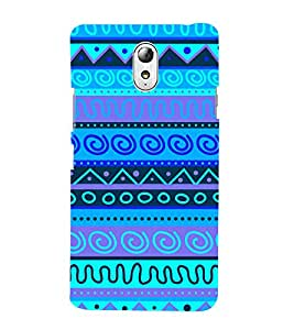 Indian Blue Tribal Art 3D Hard Polycarbonate Designer Back Case Cover for Lenovo Vibe P1M