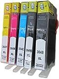 5 komp. Druckerpatronen ersatz für HP 364XL 1 x schwarz 1 x photoschwarz 1 x blau 1 x rot 1 x gelb