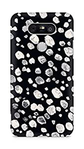 AMEZ designer printed 3d premium high quality back case cover for LG G5 (black white)