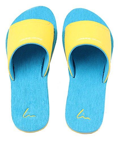Slip On Pantofole Doccia Antiscivolo Sandali House Mule Think Schiume suola scarpe da spiaggia piscina bagno Slide per adulti, perfetto regalo di natale, Blue, uk 4-5