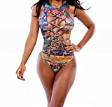 Aweids Sexy One-piece Bodysuit Swimming Suit Beachwear Large thumbnail