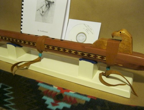 Native American Flute - Aromatic Cedar - Hand Made- With Flute Stand, Travel Bag, Book and Cd