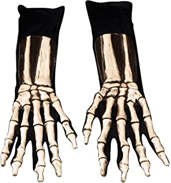 Morris Costumes Men's Gloves Skeleton