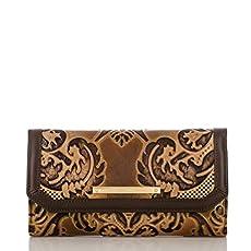 Soft Checkbook Wallet<br>Brown Fresco