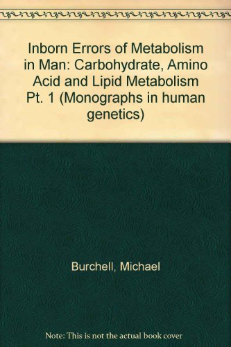 Inborn Errors Of Metabolism In Man, Part 1: Carbohydrate, Amino Acid And Lipid Metabolism (Monographs In Human Genetics)