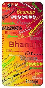 Bhanuja (Popular Girl Name) Name & Sign Printed All over customize & Personalized!! Protective back cover for your Smart Phone : Samsung Galaxy A-7