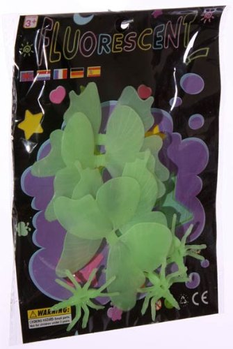 Imagen 3 de Conjunto de 4 mariposas fluorescentes 3D