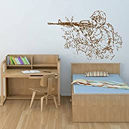 ik713 Wall Decal Sticker Mural US Army military shooter children\'s room