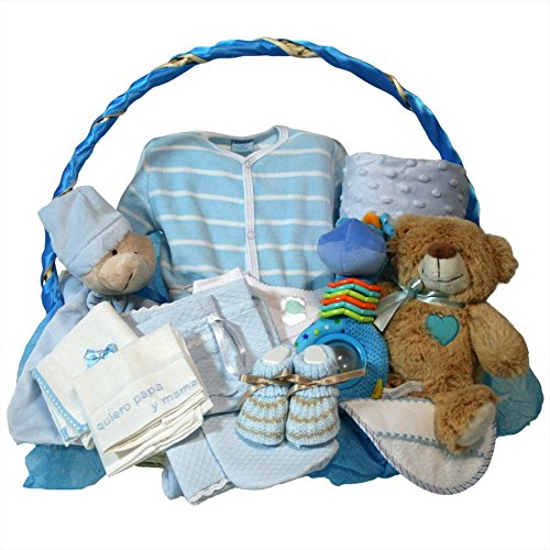 Canastilla-bebe-recien-nacido-Esencial-Delux-azul-Cesta-regalo-recien-nacido