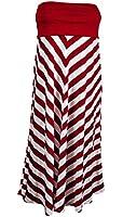 eVogues Plus size Striped Dress Skirt