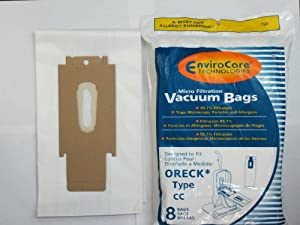Oreck Vacuum Cleaner Bags To Fit Style CC, and all XL Upright Models 8 pk.