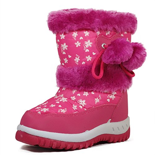 Lj-Adorababy Girl'S Winter Snow Boots,Lj Girl Kb507 Fuchsia 6