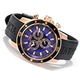 Invicta Mens Specialty Classic Blue Dial Swiss Chronograph Rose Tone Stainless Steel Case Watch 11389