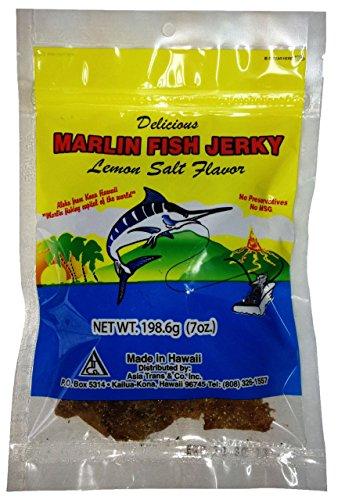 Hawaiian Marlin Fish Jerky Lemon Salt 7 Oz