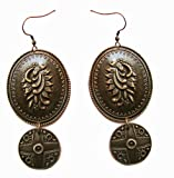 Molcha Engraved Vintage Metal Earrings For Women _8041A