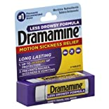 Dramamine Motion Sickness Relief, Less Drowsy Formula, 25 mg, Tablets 8 tablets
