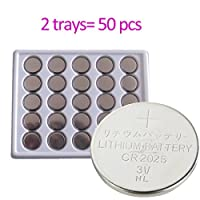 2025 CR2025 3V Lithium Battery Coin Cell for LED Tea Light Party Candles Bluetooth 3D Glasses Car Remote Toys Watches (50pcs Bulk) from CELEWELL